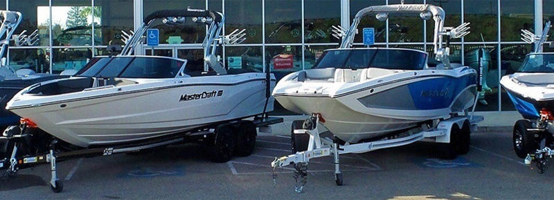 Wakeboard Boats Lined Up