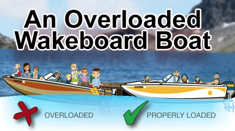overloaded wakeboard boat with too many people
