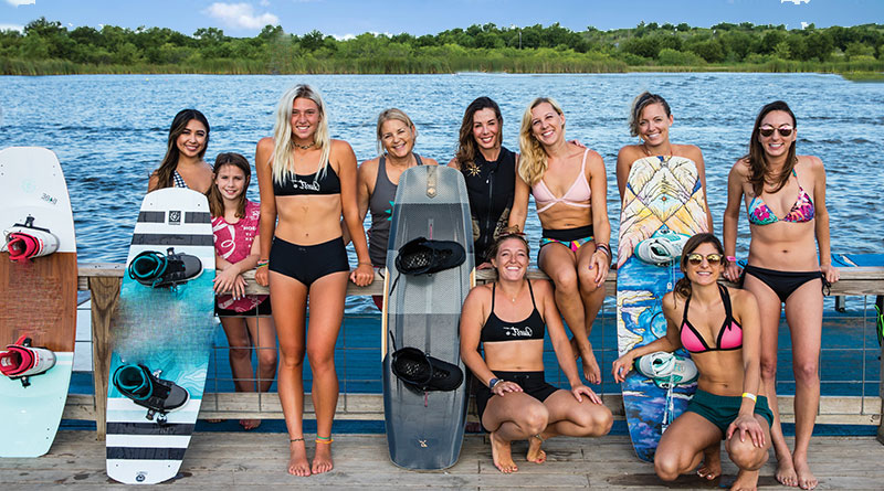 group of wakeboard riders